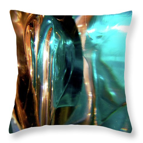 Abstract Shapes Throw Pillow featuring the photograph Abstract 1031 by Stephanie Moore