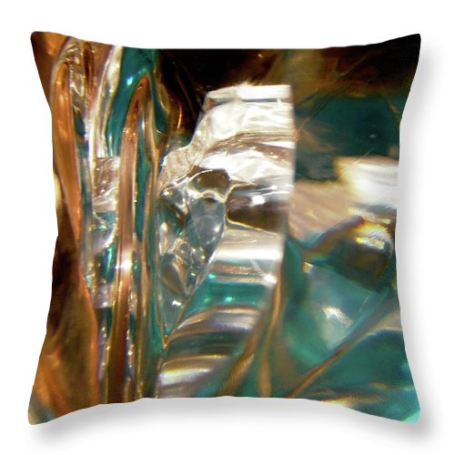 Abstract Shapes Throw Pillow featuring the photograph Abstract 1033 by Stephanie Moore