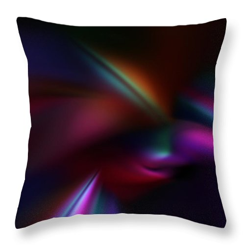 Abstract Digital Painting Throw Pillow featuring the digital art Abstract 11-08-09 by David Lane