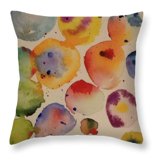 Abstract Throw Pillow featuring the painting Float by Bonny Butler