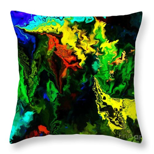 Abstract Throw Pillow featuring the digital art Abstract 2-23-09 by David Lane