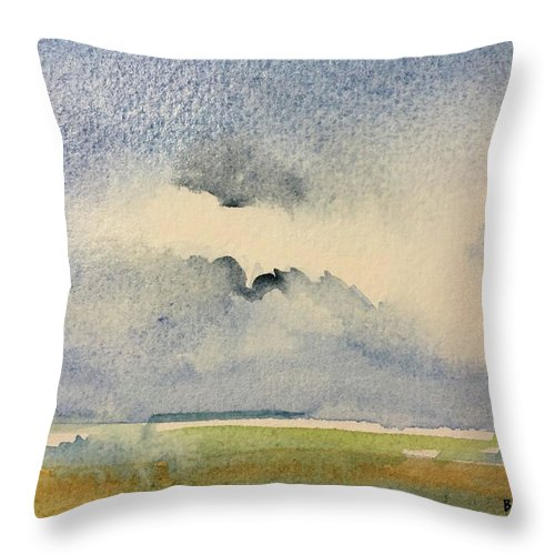 Abstract Throw Pillow featuring the painting September 5 by Bonny Butler