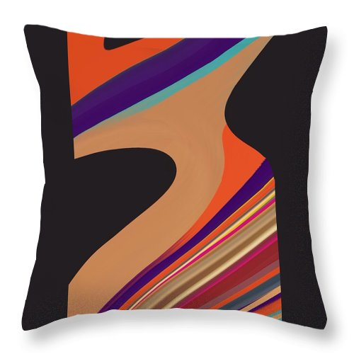 Background Throw Pillow featuring the digital art Abstract 2 by Art Spectrum