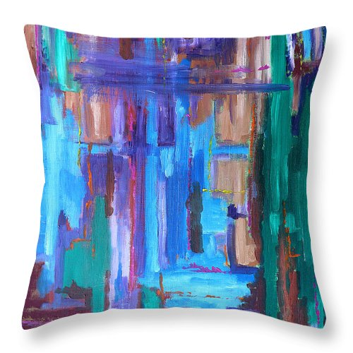 Abstract Throw Pillow featuring the painting Abstract 20 by Patrick J Murphy