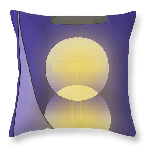 Abstract Throw Pillow featuring the digital art Abstract 27 by John Krakora