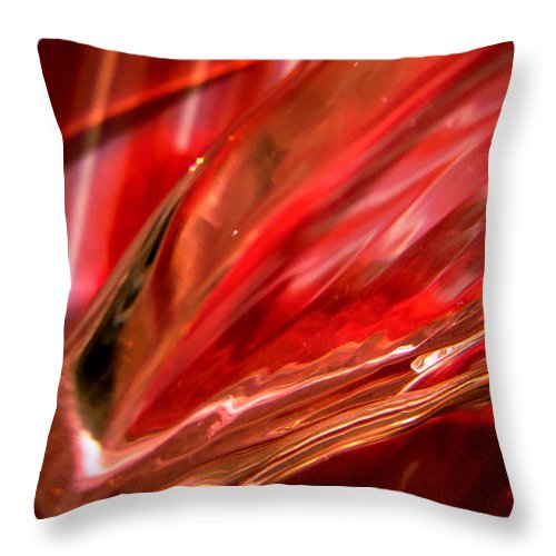 Abstract Reds Throw Pillow featuring the photograph Abstract 282 by Stephanie Moore