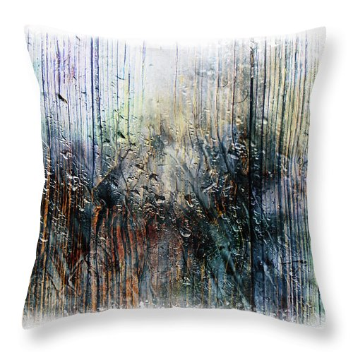 Abstract Throw Pillow featuring the painting 2f Abstract Expressionism Digital Painting by Ricardos Creations