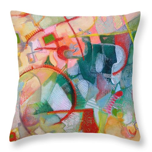 Abstract Artwork Throw Pillow featuring the painting Abstract 3 by Susanne Clark