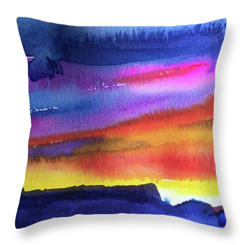 Abstract Throw Pillow featuring the painting Joan's Sunset by Bonny Butler