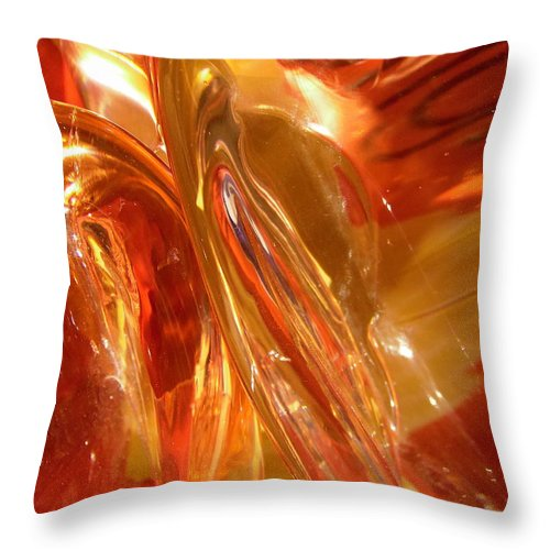 Abstract Throw Pillow featuring the photograph Abstract 407 by Stephanie Moore