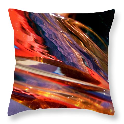 Abstract Throw Pillow featuring the photograph Abstract 414 by Stephanie Moore