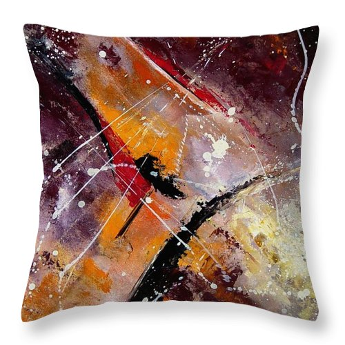 Abstract Throw Pillow featuring the painting Abstract 45 by Pol Ledent