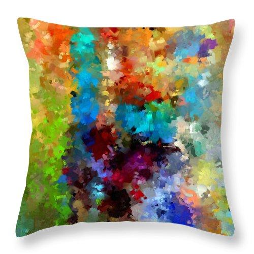 Rafael Salazar Throw Pillow featuring the digital art Abstract 457a by Rafael Salazar