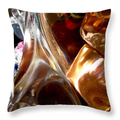 Abstract Throw Pillow featuring the photograph Abstract 489 by Stephanie Moore