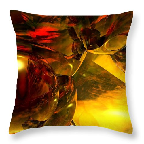 Abstract Throw Pillow featuring the digital art Abstract 5-21-09 by David Lane