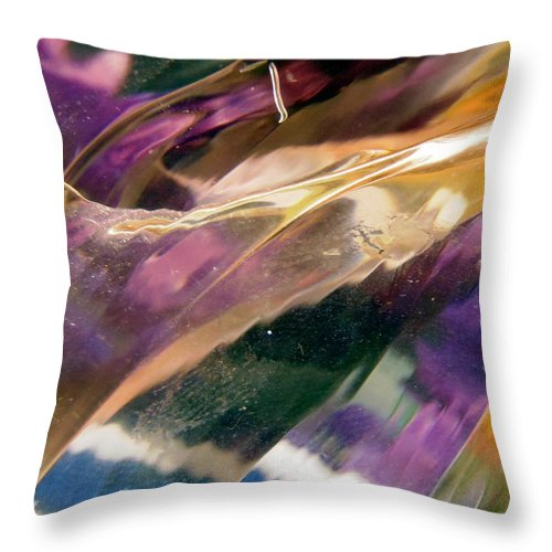 Abstract Shapes Throw Pillow featuring the photograph Abstract 513 by Stephanie Moore