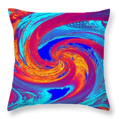 Columns Throw Pillow featuring the photograph Abstract 6 by Tim Allen