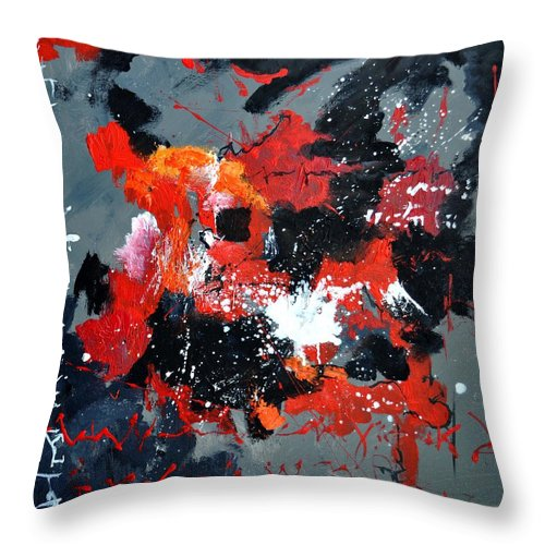 Abstract Throw Pillow featuring the painting Abstract 6611403 by Pol Ledent