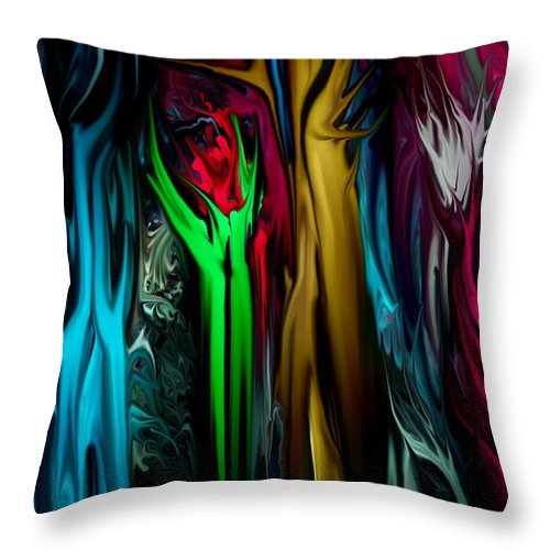 Abstract Throw Pillow featuring the digital art Abstract 7-09-09 by David Lane