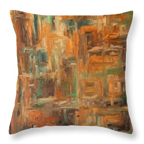 Abstract Throw Pillow featuring the painting Abstract 751 by Patrick J Murphy