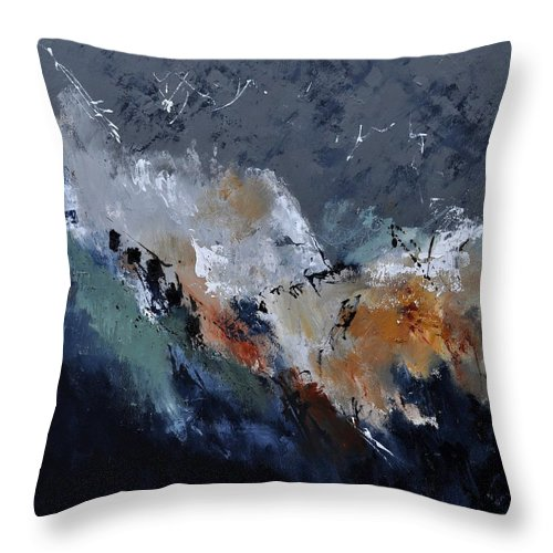 Abstract Throw Pillow featuring the painting Abstract 8821901 by Pol Ledent