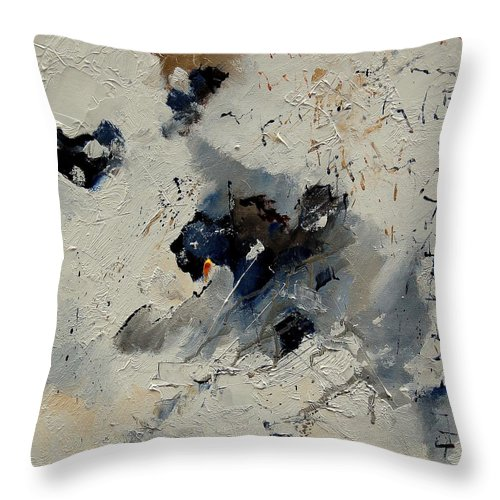 Abstract Throw Pillow featuring the painting Abstract 901141 by Pol Ledent