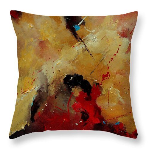 Abstract Throw Pillow featuring the painting Abstract 901156 by Pol Ledent