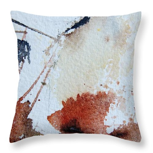 Abstract Throw Pillow featuring the painting Abstract 9037 by Pol Ledent