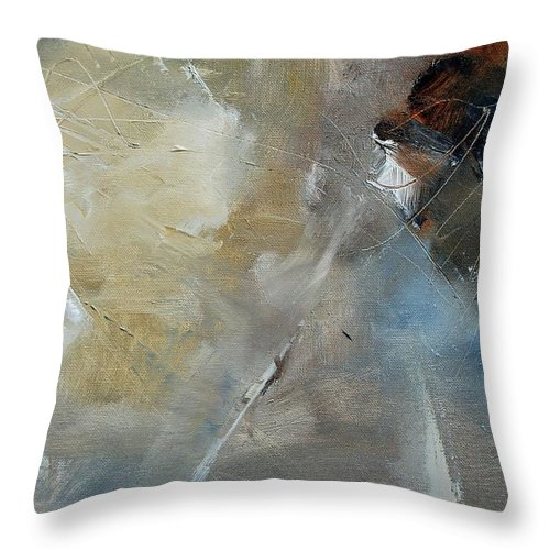 Abstract Throw Pillow featuring the painting Abstract 904060 by Pol Ledent