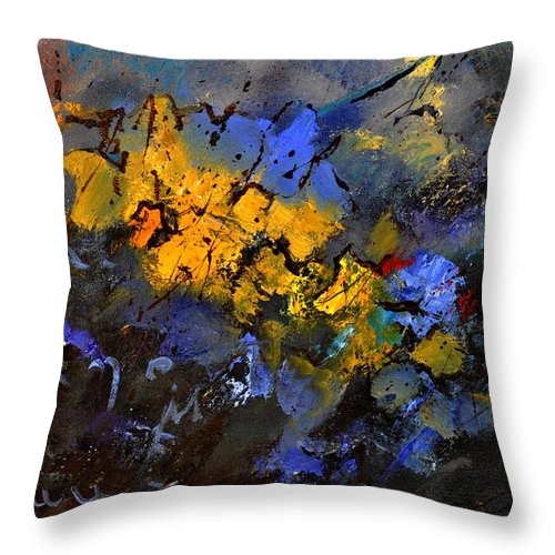 Abstract Throw Pillow featuring the painting Abstract 972 by Pol Ledent