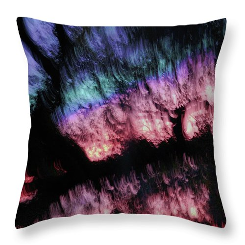Abstract Throw Pillow featuring the digital art Abstract Accident by DigiArt Diaries by Vicky B Fuller