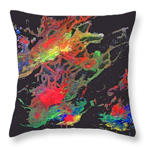 Star Throw Pillow featuring the painting Abstract Andromeda by Ken Figurski