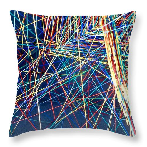 Abstract Art Throw Pillow featuring the photograph Abstract Art by Barbara Zahno