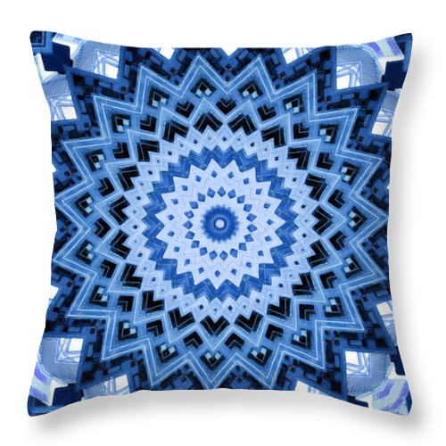 Abstract Throw Pillow featuring the digital art Abstract Blue 17 by David Wagner