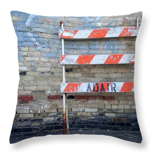Industrial Throw Pillow featuring the photograph Abstract Brick 1 by Anita Burgermeister