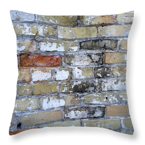 Industrial Throw Pillow featuring the photograph Abstract Brick 10 by Anita Burgermeister