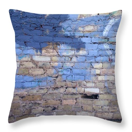 Industrial Throw Pillow featuring the photograph Abstract Brick 3 by Anita Burgermeister
