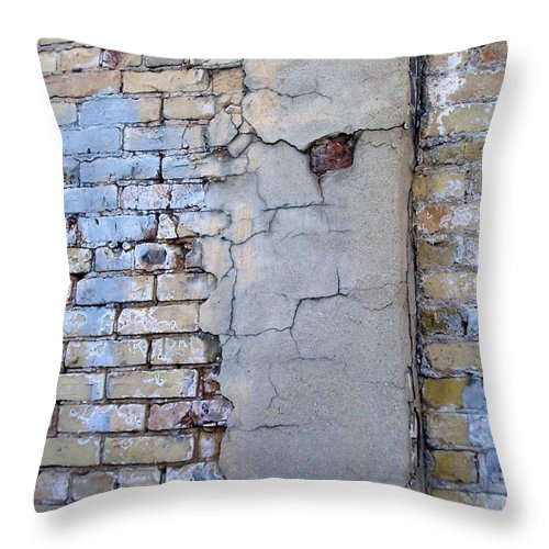 Industrial Throw Pillow featuring the photograph Abstract Brick 4 by Anita Burgermeister