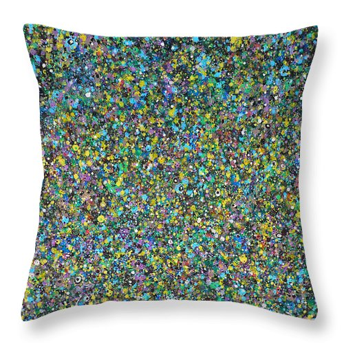 Abstract Throw Pillow featuring the painting Abstract Composition No. 13 by Ericka Herazo