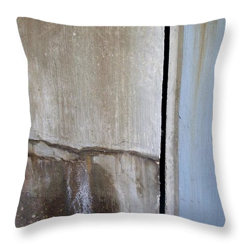 Industrial. Urban Throw Pillow featuring the photograph Abstract Concrete 1 by Anita Burgermeister