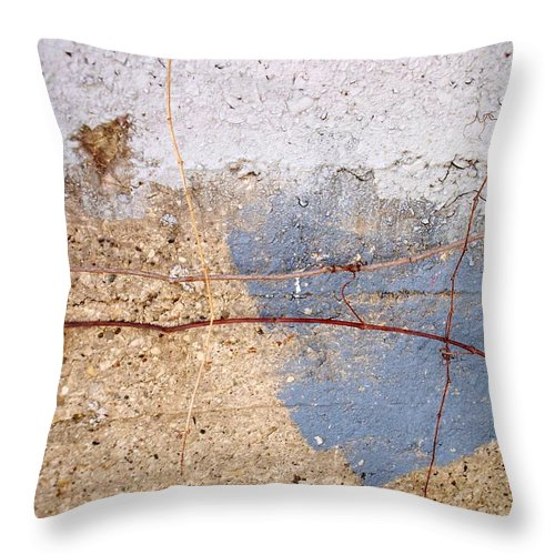 Industrial. Urban Throw Pillow featuring the photograph Abstract Concrete 15 by Anita Burgermeister