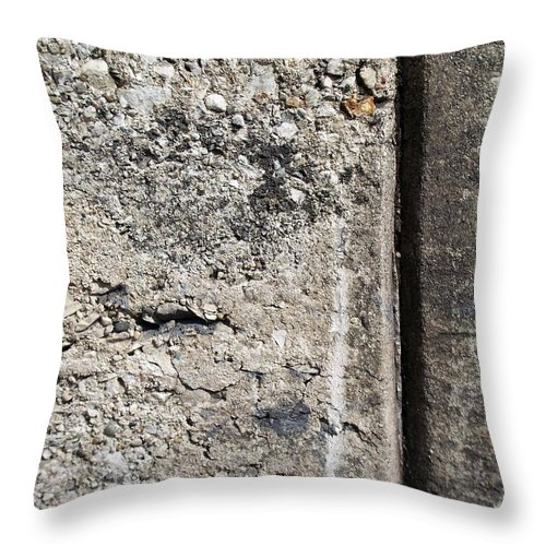 Industrial. Urban Throw Pillow featuring the photograph Abstract Concrete 16 by Anita Burgermeister
