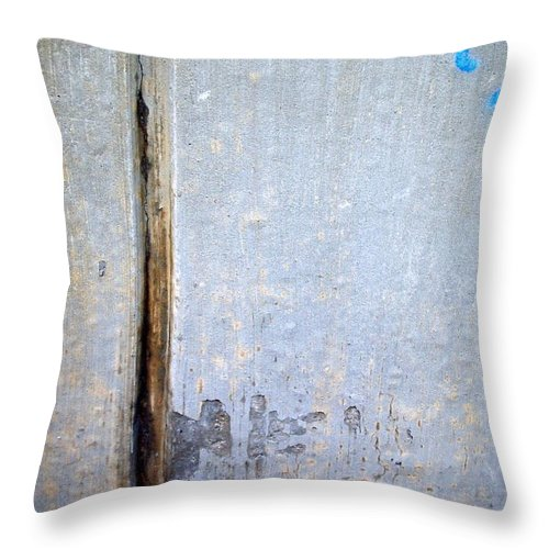 Industrial. Urban Throw Pillow featuring the photograph Abstract Concrete 19 by Anita Burgermeister