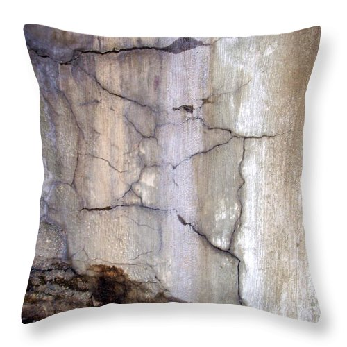 Industrial. Urban Throw Pillow featuring the photograph Abstract Concrete 2 by Anita Burgermeister