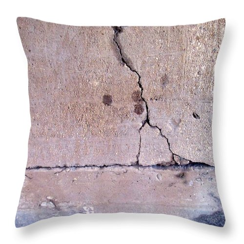 Industrial. Urban Throw Pillow featuring the photograph Abstract Concrete 3 by Anita Burgermeister