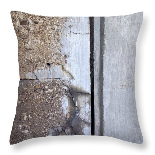 Industrial. Urban Throw Pillow featuring the photograph Abstract Concrete 5 by Anita Burgermeister