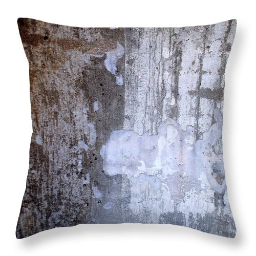 Industrial. Urban Throw Pillow featuring the photograph Abstract Concrete 8 by Anita Burgermeister