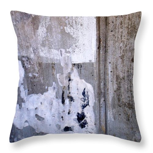 Industrial. Urban Throw Pillow featuring the photograph Abstract Concrete 9 by Anita Burgermeister