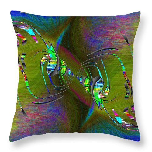 Abstract Throw Pillow featuring the digital art Abstract Cubed 361 by Tim Allen