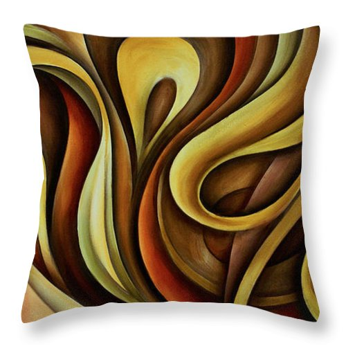 Abstract Art Throw Pillow featuring the painting Abstract Design 11 by Michael Lang